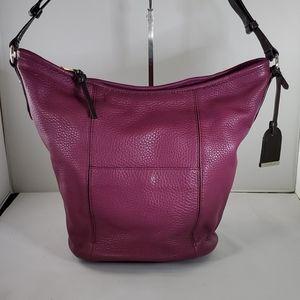 COLE HAAN Large Purple Leather Purse